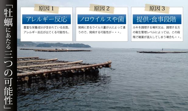 牡蠣にあたる3つの可能性についての詳細はこちら